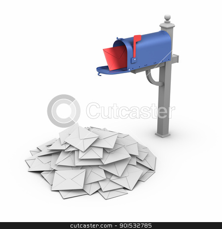 Mailbox - Spam stock photo, Mailbox - Spam. by ayzek
