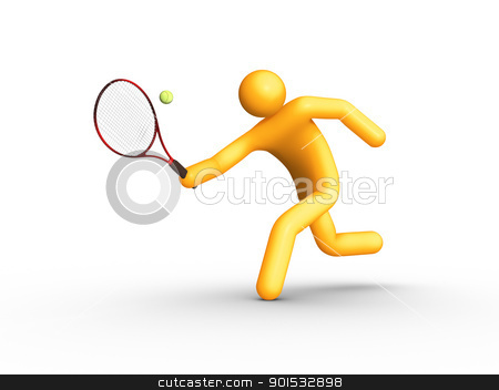 Tennis Player stock photo, Tennis Player. by ayzek