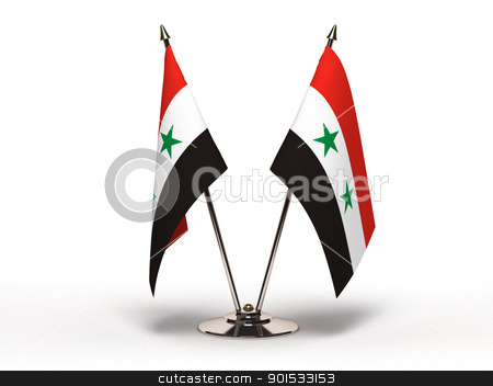 Miniature Flag of Syria (Isolated) stock photo, Miniature Flag of Syria (Isolated with clipping path) by bosphorus