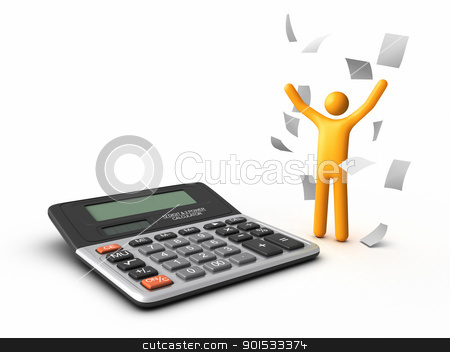 Finishing Paperwork stock photo, Finishing Paperwork. by ayzek