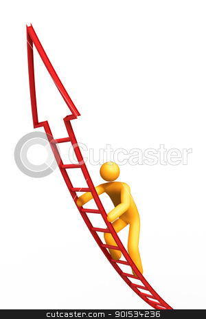Ladder of Success stock photo, Ladder of Success. by ayzek