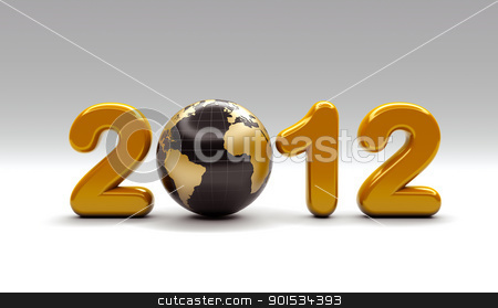 3d new year 2012 shape stock photo, 3d new year 2012 shape by Christophe Rolland