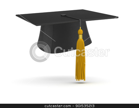 Mortar Board stock photo, Graduation Cap by ayzek