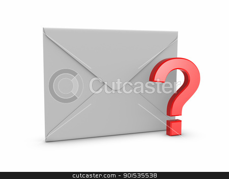 Mail with Question Mark stock photo, Mail with Question Mark by ayzek