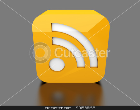 RSS Symbol stock photo, 3D rendered Illustration.    by Michael Osterrieder