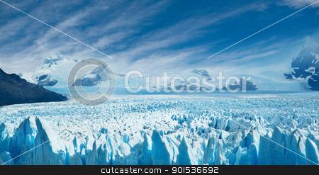 Perito Moreno glacier,  Argentina.  stock photo, Perito Moreno glacier, patagonia, Argentina. Copy space.  by Pablo Caridad