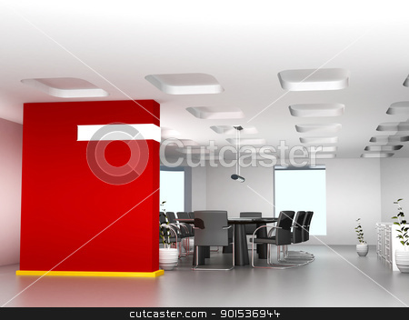 Business meeting room in office with modern decoration  stock photo, Business meeting room in office with modern decoration  by dacasdo