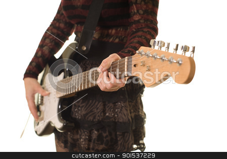 close up of guitar stock photo, close up of a womans hands playing guitar, shallow depth of field by sijohnsen