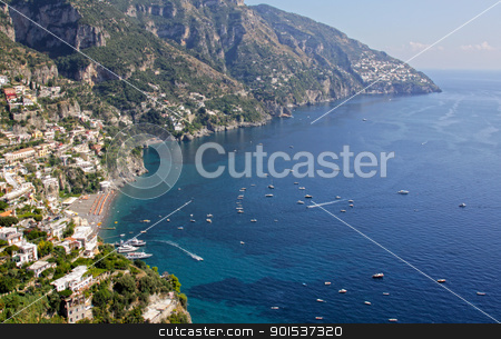 Positano stock photo, The town of Positano on the Amalfi coast in southern Italy. by Chris Hill