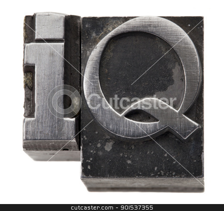Intelligence quotient - IQ acronym stock photo, Intelligence quotient - IQ acronym - isolated symbol in vintage grunge metal type by Marek Uliasz