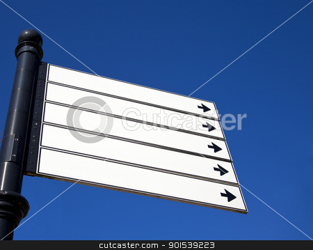 sign stock photo, sign with blue sky by Rob Bouwman