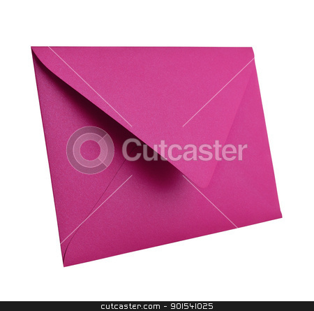 Purple envelope isolated on white. stock photo, Purple envelope isolated on white background with clipping path  by Pablo Caridad