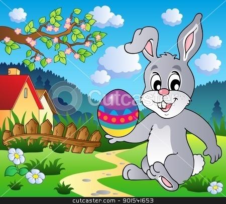 Easter bunny theme image 4 stock vector clipart, Easter bunny theme image 4 - vector illustration. by Klara Viskova