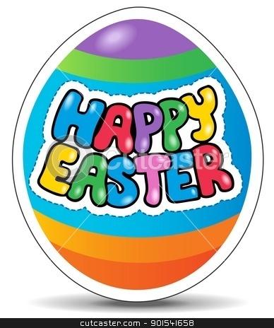 Happy Easter sign theme image 1 stock vector clipart, Happy Easter sign theme image 1 - vector illustration. by Klara Viskova