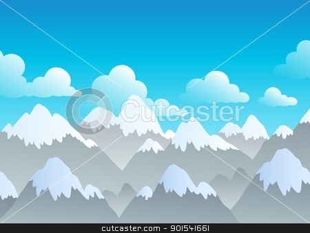 Mountain theme landscape 3 stock vector clipart, Mountain theme landscape 3 - vector illustration. by Klara Viskova