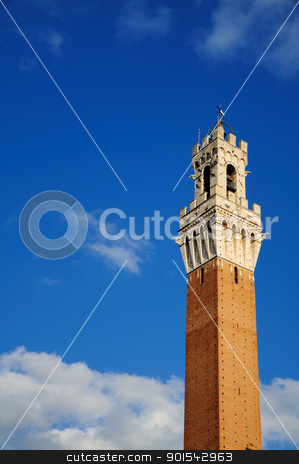 Torre del Mangia (Siena) stock photo, Siena is a jewel of the tuscan medieval architecture by Maurizio Martini