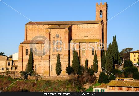 San Domenico (Siena) stock photo, Siena is a jewel of the tuscan medieval architecture by Maurizio Martini