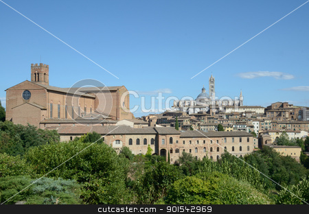 Cityscape (Siena) stock photo, Siena is a jewel of the tuscan medieval architecture by Maurizio Martini
