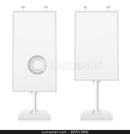 Billboard stock photo, Billboards with place for your text. Illustration on white background by dvarg