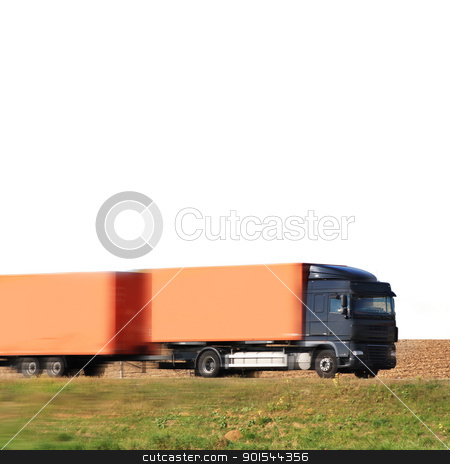 isolated truck stock photo, isolated truck on the road by Viktor Thaut