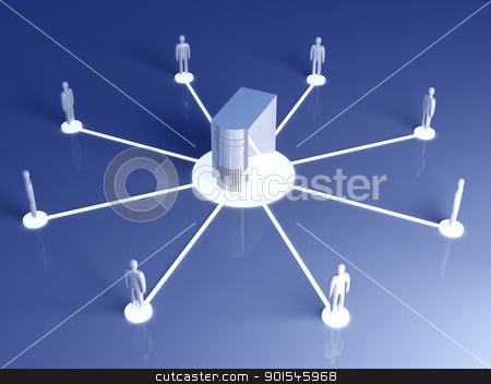 Connected People stock photo, Connected People. 3D rendered illustration.   by Michael Osterrieder