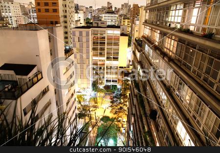 Sao Paulo at night stock photo, Skyline of Higienopolis, Sao Paulo, Brazil. by Michael Osterrieder