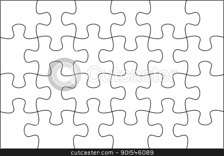 Puzzle Background Template 6x4 Stock Photo