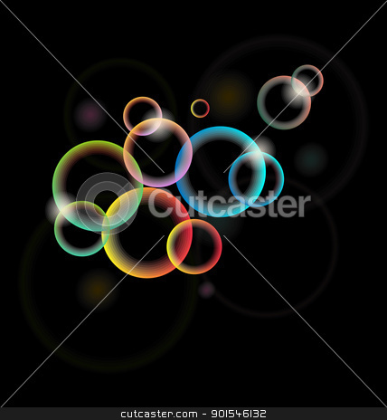 set of multicolor illuminated circle for design card or flyer stock vector clipart, Illustration set of multicolor illuminated circle for design card or flyer - vector by -=Mad Dog=-
