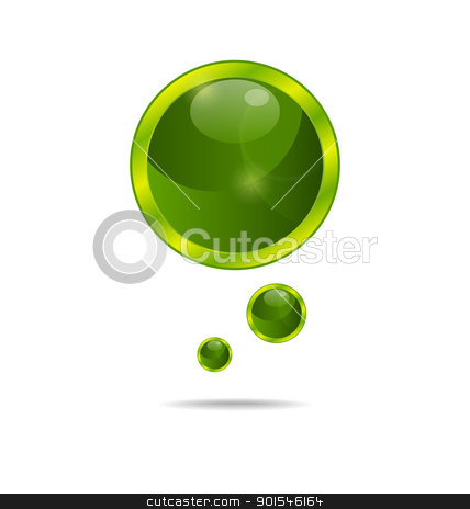 abstract eco green bubbles stock vector clipart, Illustration abstract eco green bubbles - vector by -=Mad Dog=-