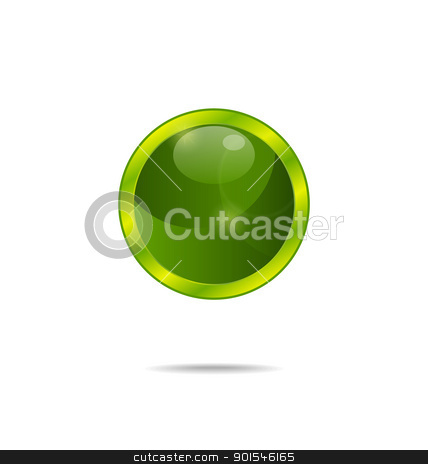 abstract eco green bubble isolated stock vector clipart, Illustration abstract eco green bubble isolated - vector by -=Mad Dog=-