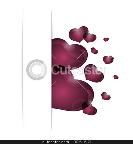 hearts from paper Valentine's day card stock vector clipart, Illustration hearts from paper Valentine's day card - vector by -=Mad Dog=-