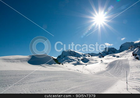 Bonneval Sur Arc stock photo, Pistes in ski resort Bonneval Sur Arc, Savoy Alps, France by Robert Soban