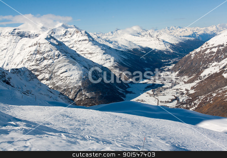 Bonneval Sur Arc stock photo, Valley in Savoy Alps, France by Robert Soban