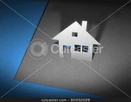 paper cutout house stock photo, An image of a stylish paper cutout house by Markus Gann