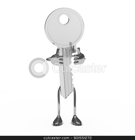 key figure stock photo, key figure show like on white background by d3images