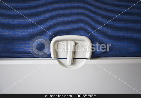 Airplane Tray Table stock photo, Airplane Tray Table, close-up of latch and tray by Bryan Mullennix