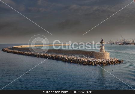 Pier in Corsica, France stock photo, Pier view, arriving in Corsica by Giovanni Gagliardi