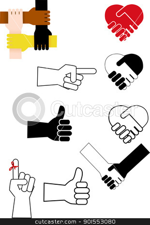 Hand sign  stock vector clipart, Vector Illustration Of  Hand sign  by Surya Zaidan
