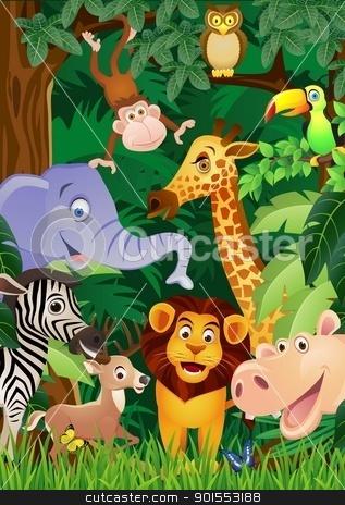 Animal Cartoon stock vector clipart, Vector Illustration of Animal Cartoon by Surya Zaidan