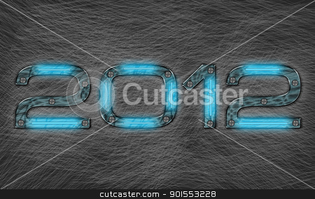 New year 2012  stock photo, new year 2012 text with grungy metal effect by Nabiilah Rahman