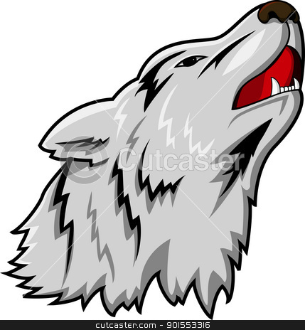 Wolf  stock vector clipart, Vector Illustration Of  Wolf  by Surya Zaidan