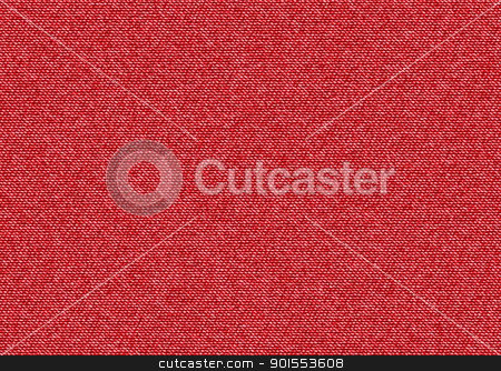 Red denim background stock vector clipart, Red denim material background ideal abstract template base by Michael Travers