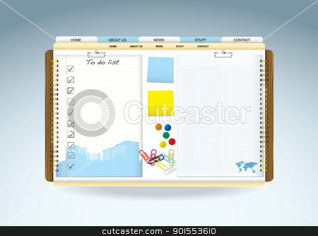 Web paper template stock vector clipart, Web site template paper cocnept with room for your text by Michael Travers