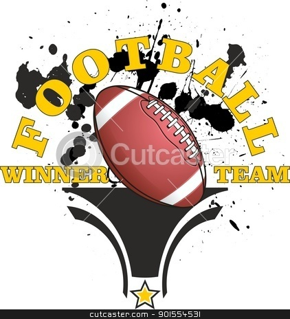 football stock vector clipart, American football, a winning team by samandale