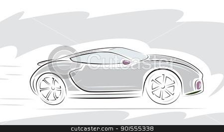 Racing Sport car  stock vector clipart, Racing Sport car. Vector illustration. by antkevyv