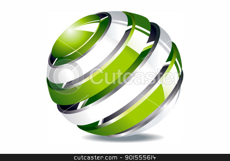 Round green environment and business concepts  stock photo, Round green environment and business concepts  by photomyheart