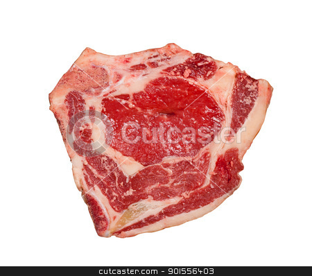 Raw meat isolated. stock photo, Raw meat isolated white background. by Pablo Caridad