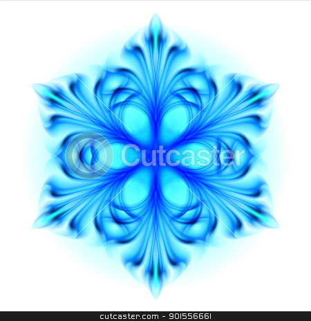 Abstract blue snowflake stock photo, Abstract blue snowflake.  Illustration on white background  by dvarg