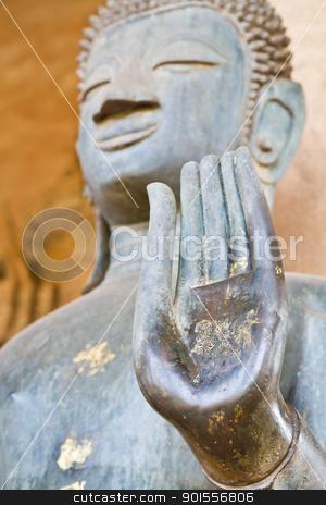 Hand of Buddha stock photo, Focus hand of Buddha. by narathorn