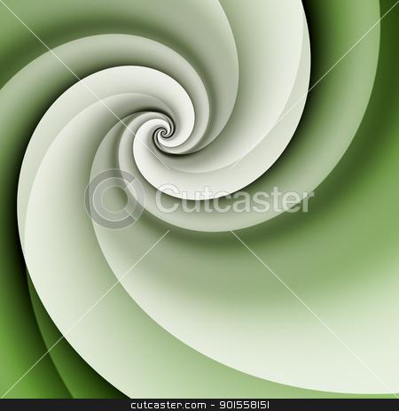 green spiral background stock photo, An image of a stylish modern green spiral background by Markus Gann
